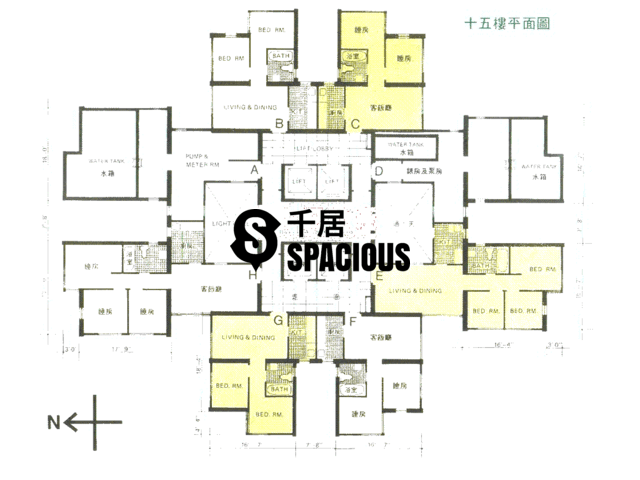 Quarry Bay - Nan Fung Sun Chuen Floor Plan 04