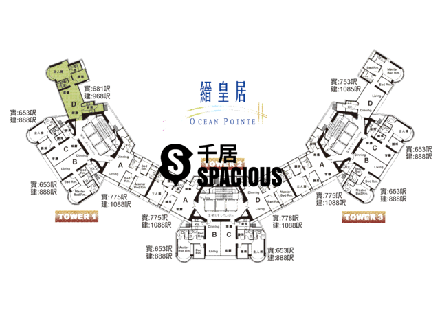 Sham Tseng - OCEAN POINTE Floor Plan 02